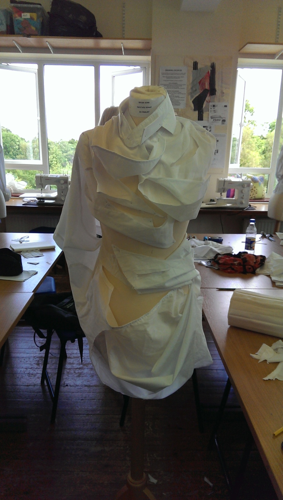 Shirt Deconstruction At The Young Fashion Designer Of The Year Competition Inspired By John Virtue By Bryan Wan Crefind